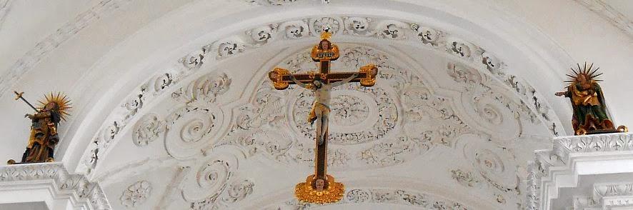 Obermarchtal: Stuckdecke der Prämonstratenser-Abteikirche