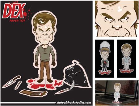 Dexter Paper Toy