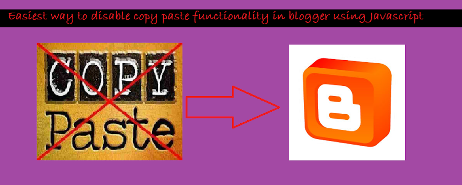 Easiest way to disable copy paste functionality in blogger using Javascript