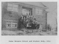 "The First Cedar Heights Elementary School, 2015 Rainbow Dr. Photo from Jack Gager's ""Cedar Heights"" (1993)"