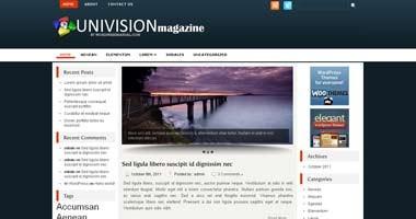 Free Wordpress Theme - Univision
