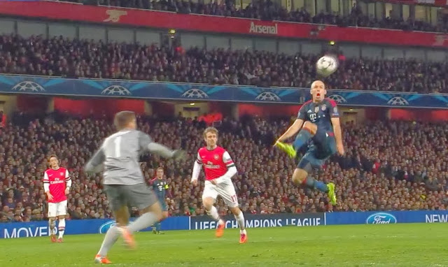 Robben, Arsenal - Bayern