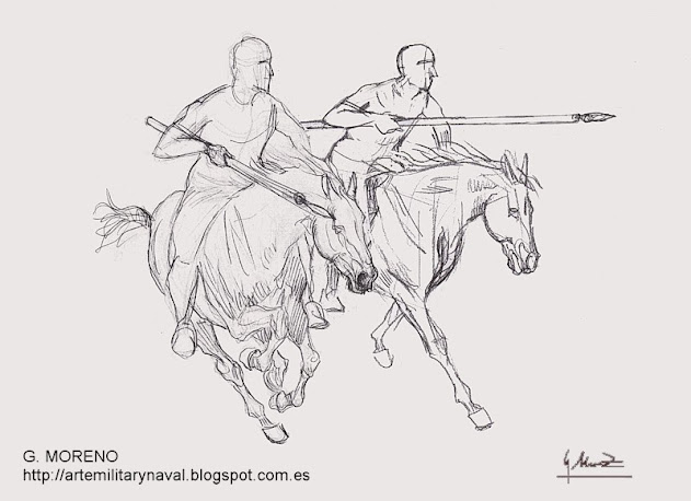 Boceto de lanceros