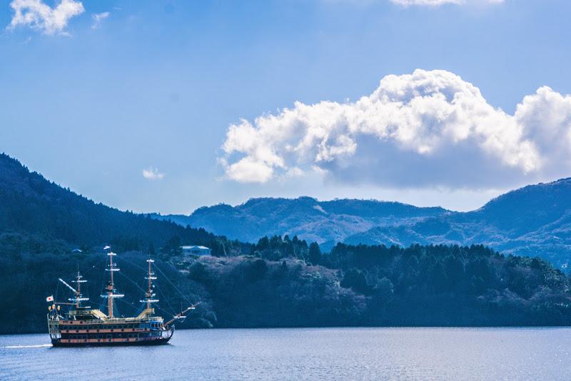 芦ノ湖 海賊船 写真