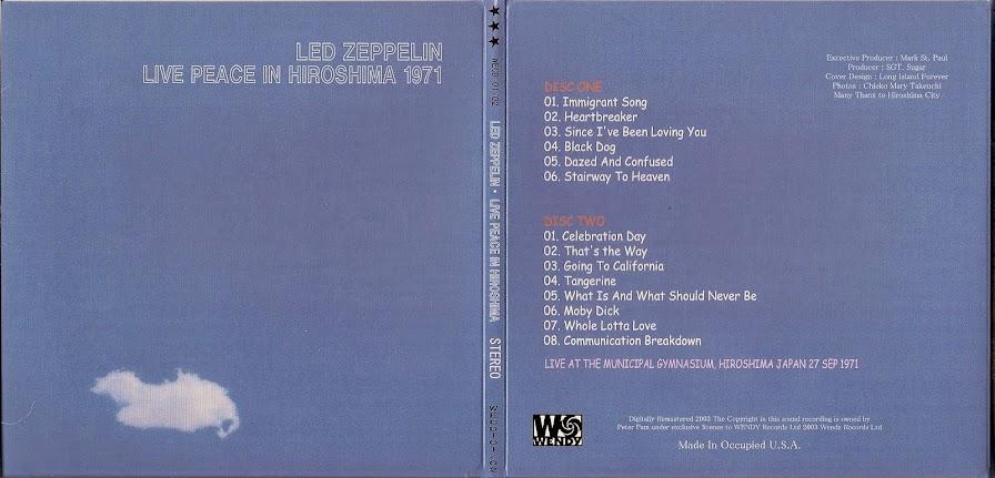 Led Zeppelin - Municipal Gymnasium, Hiroshima, 27 September 1971 (CD