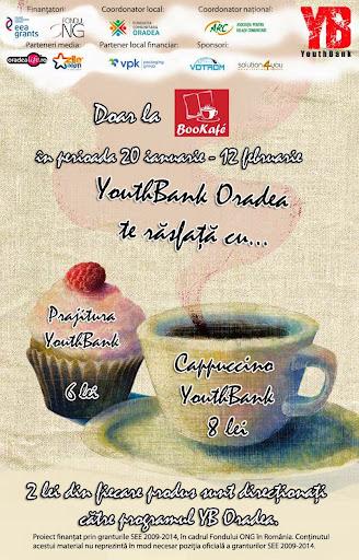 Zilele speciale încep cu cappuccino şi prăjituri YouthBank la Bookafe #1
