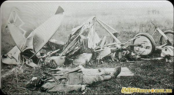 Останки літака Освальда Бельке. 28 жовтня 1916 року.