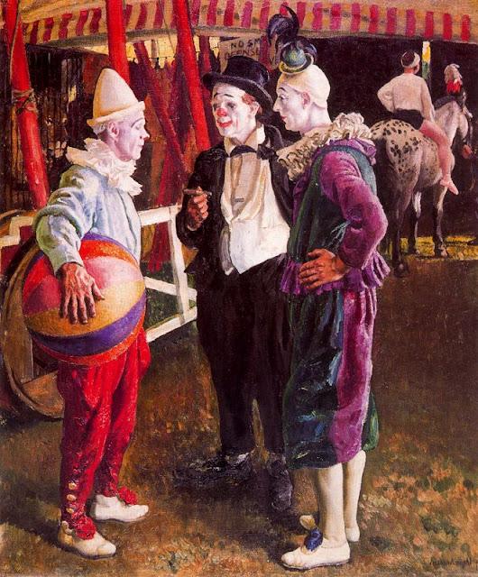 Laura Knight - The Three Clowns