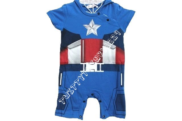 Captain America Iron Man Baby Infant Outfit Costume Romper