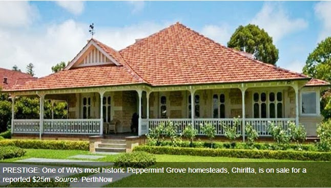 Historic Peppermint Grove property sold for 17.5 m