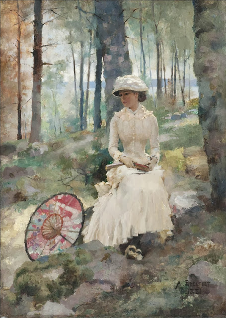 Albert Edelfelt - Under the birches