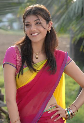Kajal Agarwal Hot Half Sexy Looks In Saree Navel Latest