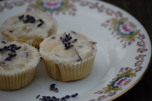 lavender cupcakes with buttercream