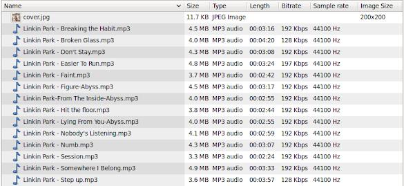 Каталог с MP3-ки