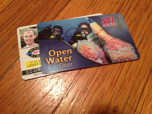 Our SSI scuba cards