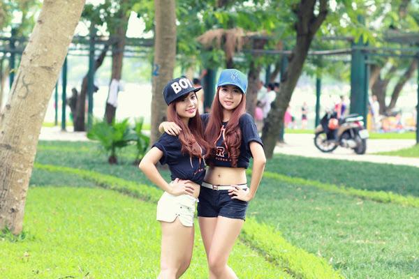 Thí sinh Miss Bóng Rổ khoe sắc tại công viên 14