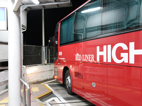 JR九州バス「広福ライナー」夜行便 748-06556 広島BC入線