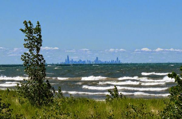 Chicago Skyline seen from Gary, IN