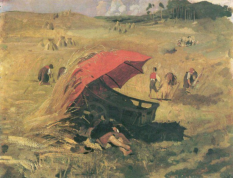 Franz von Lenbach - The Red Umbrella
