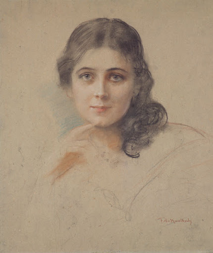 Friedrich August von Kaulbach - Bildnis der Tochter Mathilde  von Kaulbach