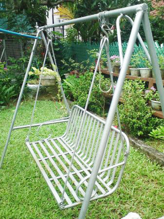 metal outdoor swing