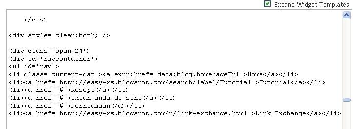 html header menu templates - tutorial letak 39 link 39 pada header menu