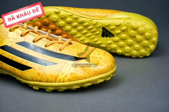bán buôn giày bóng đá F50 Messi TF vàng