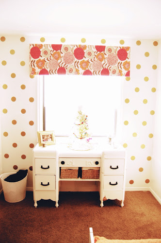 Land of nod inspired polka dot girls room