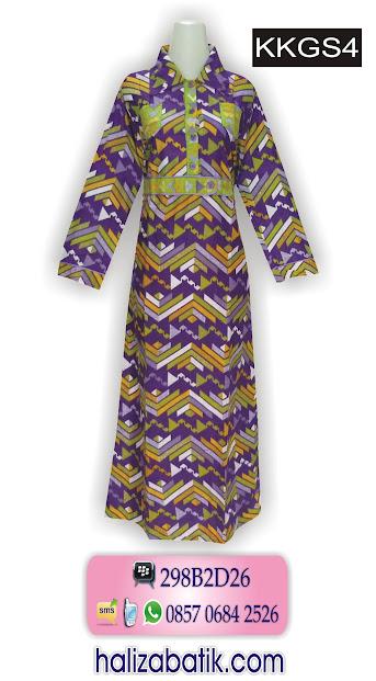 model baju gamis batik, batik gamis, model gamis batik modern