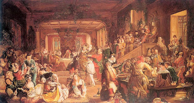 Daniel Maclise - Merry Christmas in the Baron's Hall 1838