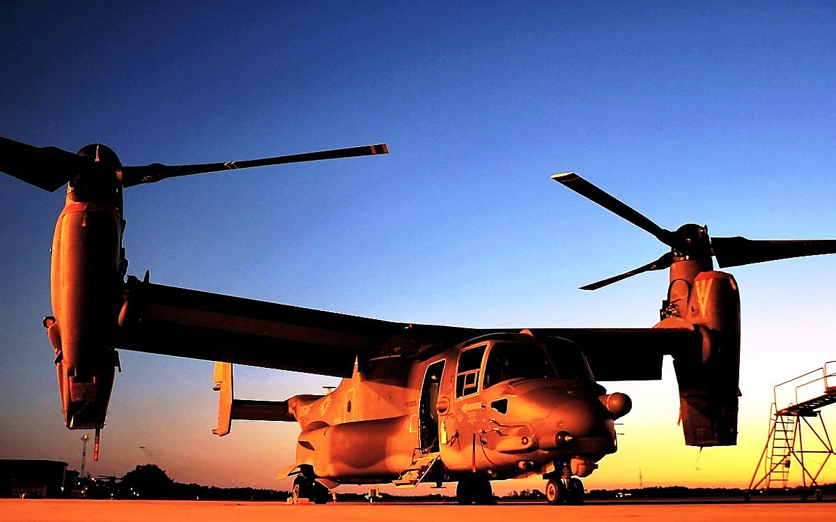 V-22 Osprey Tiltrotor Aircraft Wallpaper 2