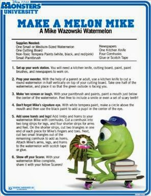 Monsters University Mike Wakowski Watermelon Centerpiece #MonstersU