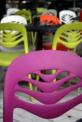Chairs at Playground restaurant in Belgrade