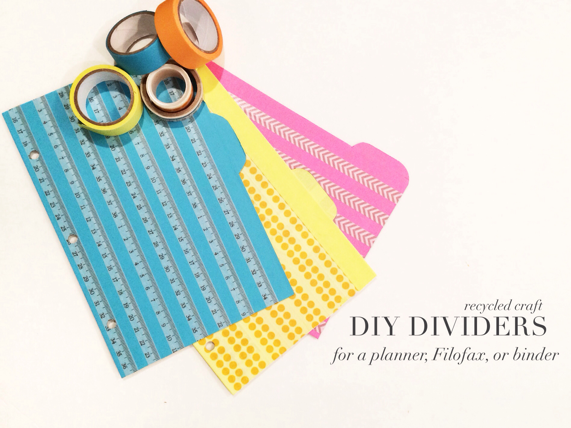 five sixteenths blog make it monday create dividers for your planner or notebook