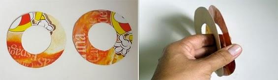 Círculos em papelão para pompom