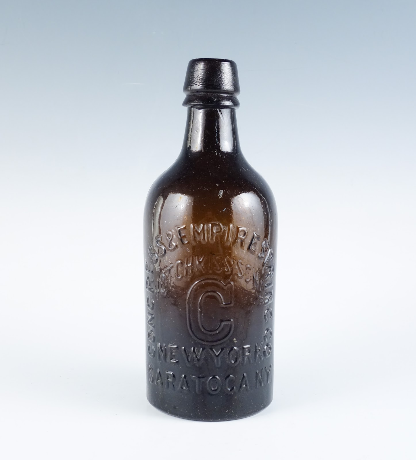 brown glass bottle
