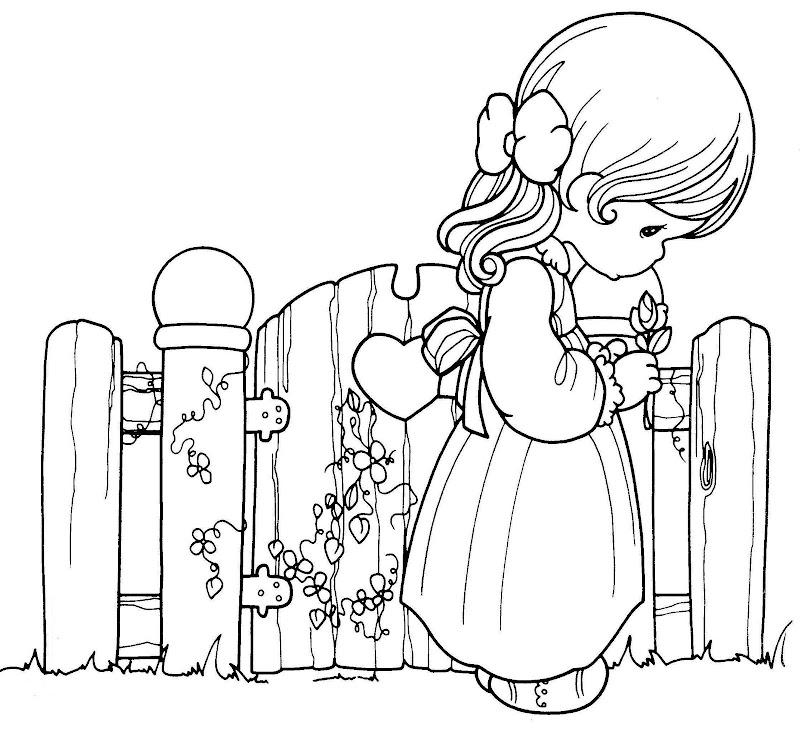 為孩子們的著色頁 Precious Moments Triste Para Colorear