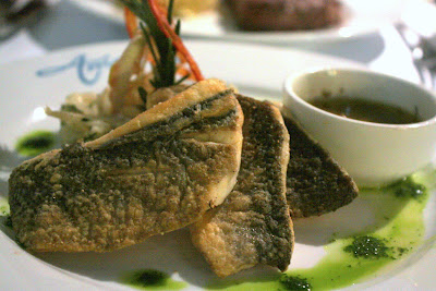 Sea bass at Amarres restaurant in Beirut Lebanon