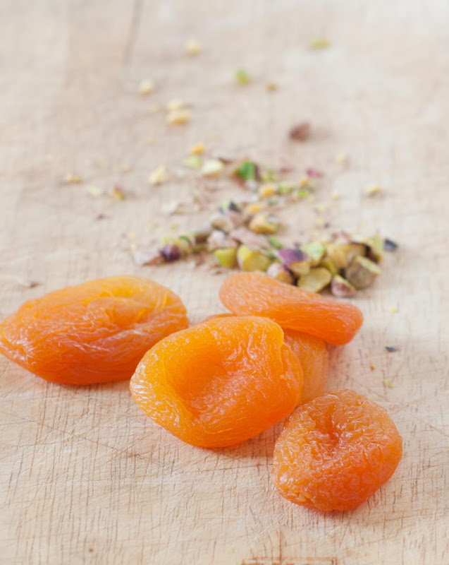 apricots and ground pistachios