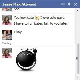 Facebook Chat Emoticons example