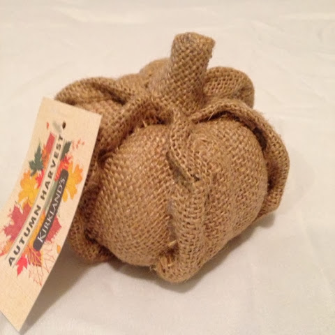 burlap pumpkin from kirklands