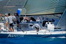 J125 Hamachi sailing St Maarten regatta