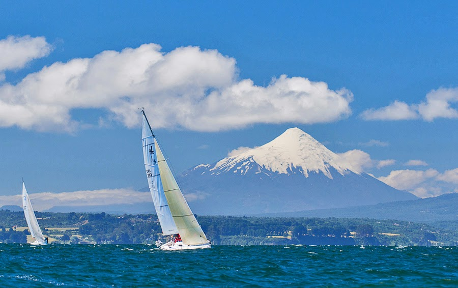 J/105 sailing off Chiloe, Chile - Puerto Montt