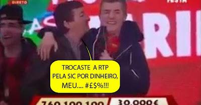 Bêbedo invade palco do «Portugal Em Festa» da SIC