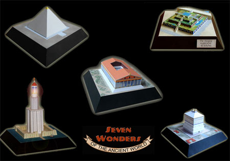 Seven Wonders of the Ancient World Papercrafts