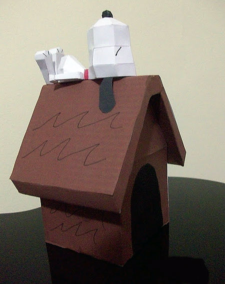 Doghouse Snoopy Papercraft