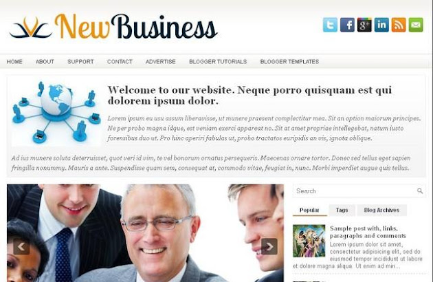 NewBusiness Blogger Template