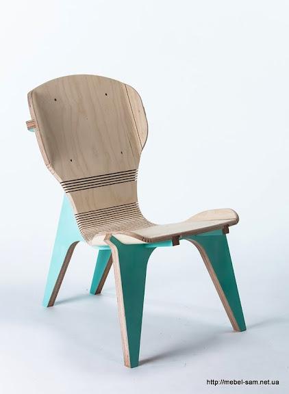 Общий вид фанерного кресла KerFchair