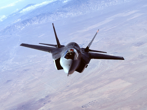 The F-22 Raptor.  F-35+Lightning+II