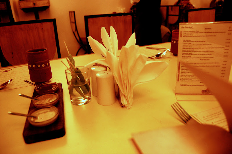 Pretty table set out at Bay Leaf Chennai